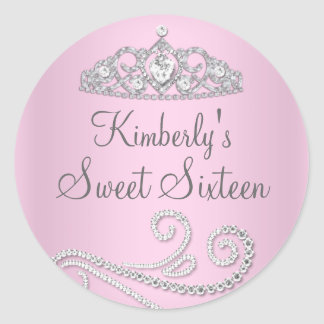 Diamond Tiara Sweet Sixteen Sticker