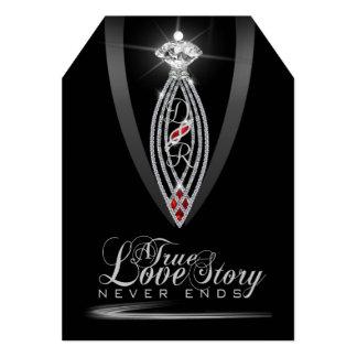 Diamond Tie Thank You Tag Invitation Cards