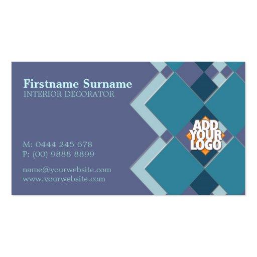 Diamond Tiles Decorator w/ Logo Business Card