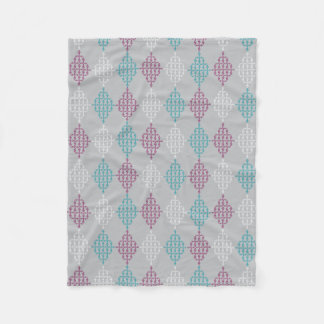 Diamond Treble Clef Fleece Blanket