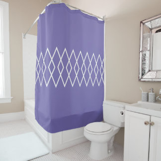 Diamond Trellis on Purple Shower Curtain