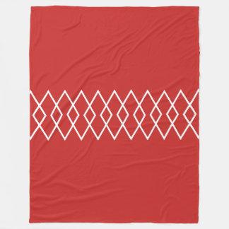 Diamond Trellis on Red Fleece Blanket