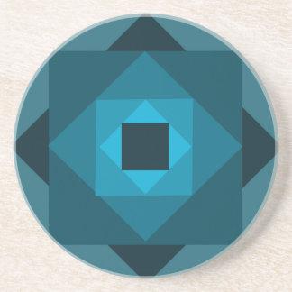 Diamond Twirl Coaster in Teal