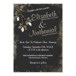 Diamond Vintage Sparkle Wedding Invitation