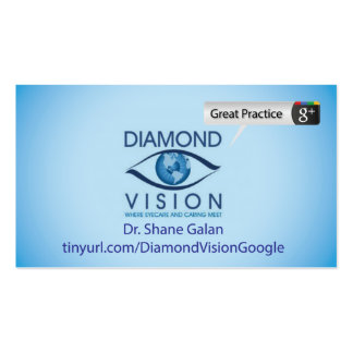 Diamond Vision Double-Sided Standard Business Cards (Pack Of 100)