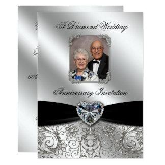 Diamond Wedding Anniversary 4.5x6.25 Photo Invite