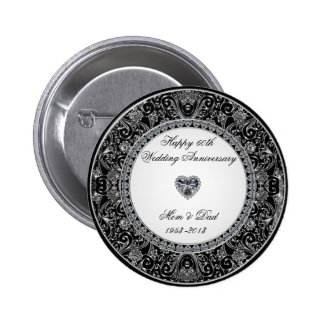 Diamond Wedding Anniversary Button