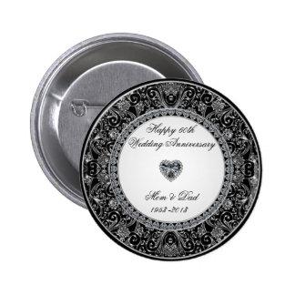 Diamond Wedding Anniversary Button