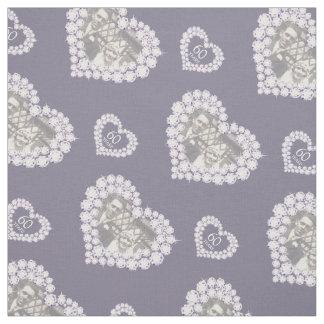 Diamond wedding anniversary custom photo fabric