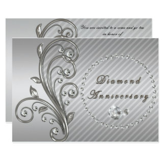 Diamond Wedding Anniversary Invitation