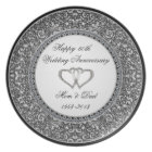 Diamond Wedding Anniversary Plate