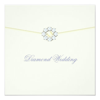 Diamond Wedding Anniversary with Diamond Broach Card
