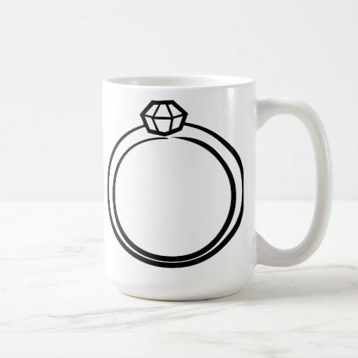 Diamond Wedding Ring Mugs