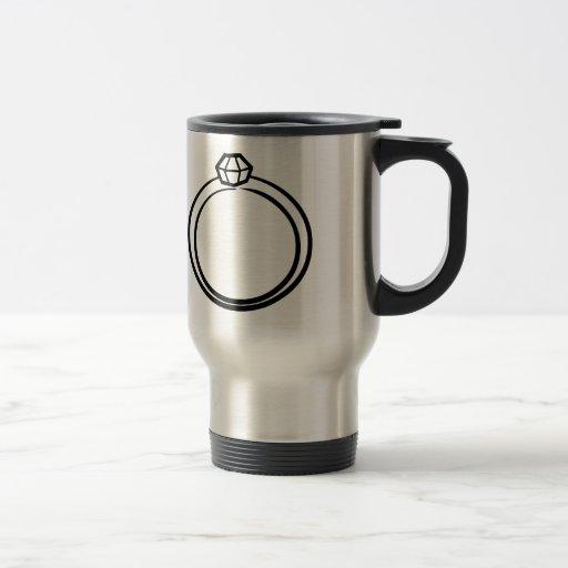 Diamond Wedding Ring Coffee Mug