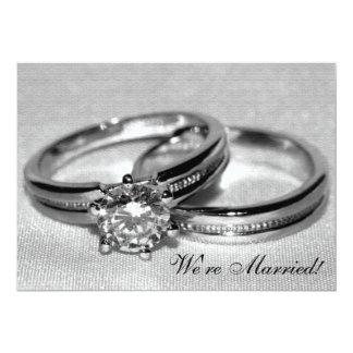 Diamond Wedding Ring Set Just Married 13 Cm X 18 Cm Invitation Card