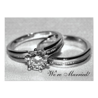 Diamond Wedding Ring Set Just Married Card