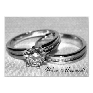 Diamond Wedding Ring Set Marriage Announcement