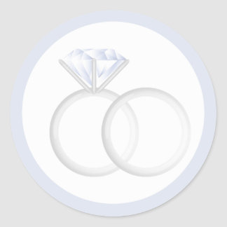 Diamond Wedding Rings Round Sticker