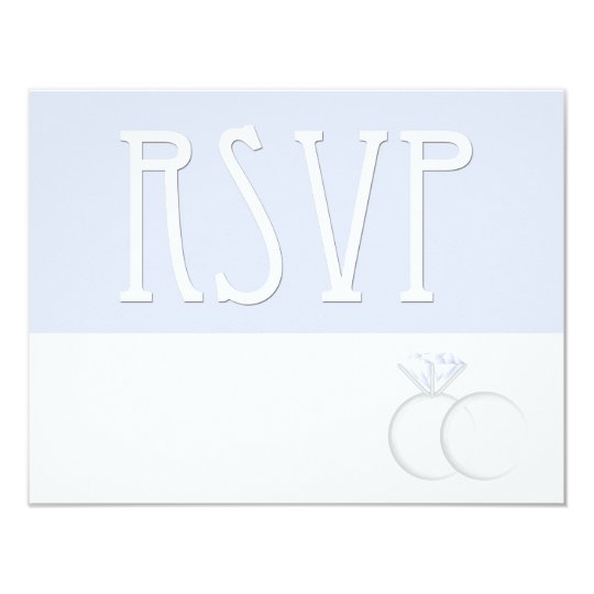 Diamond Wedding Rings RSVP Card