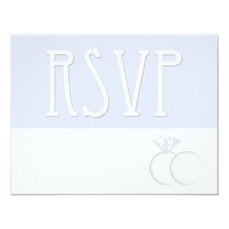 Diamond Wedding Rings RSVP Card