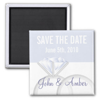 Diamond Wedding Rings Save the Date Magnet