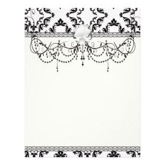 diamond white black damask elegance flyer