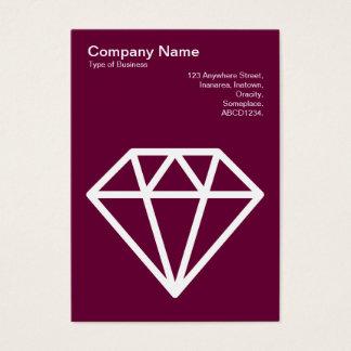 Diamond - White on Deep Crimson Business Card