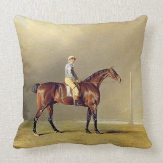 Diamond, with Dennis Fitzpatrick Up, 1799 (oil on Throw Pillows