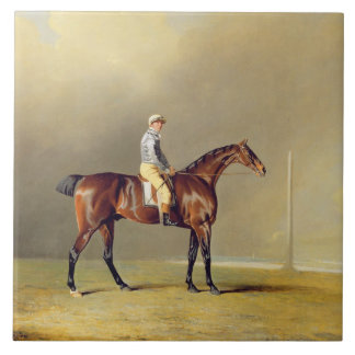 Diamond, with Dennis Fitzpatrick Up, 1799 (oil on Large Square Tile