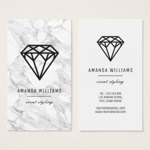 Diamond office supplies stationery zazzle diamond with marble business card colourmoves