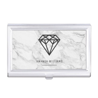Diamond with Marble Business Card Holder