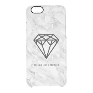 Diamond with Marble Clear iPhone 6/6S Case