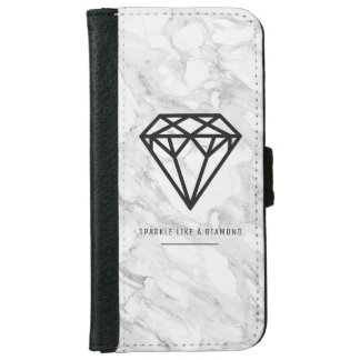 Diamond with Marble iPhone 6 Wallet Case