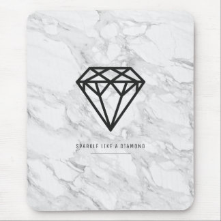 Diamond with Marble Mouse Mat