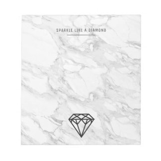 Diamond with Marble Notepads