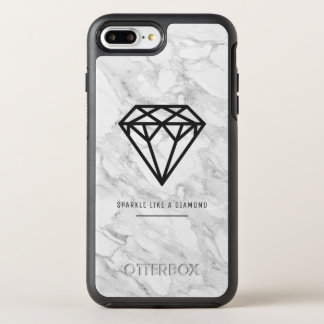 Diamond with Marble OtterBox Symmetry iPhone 8 Plus/7 Plus Case