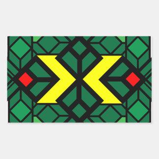 Diamond X Seal Rectangular Sticker
