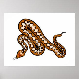 Diamondback Snake Poster