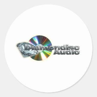 Diamondisc Audio Round Sticker
