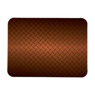 Diamondplate Look Pattern  Black to Copper Fade Vinyl Magnets