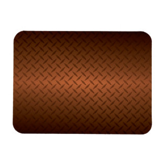 Diamondplate Look Pattern  Black to Copper Fade Rectangular Photo Magnet