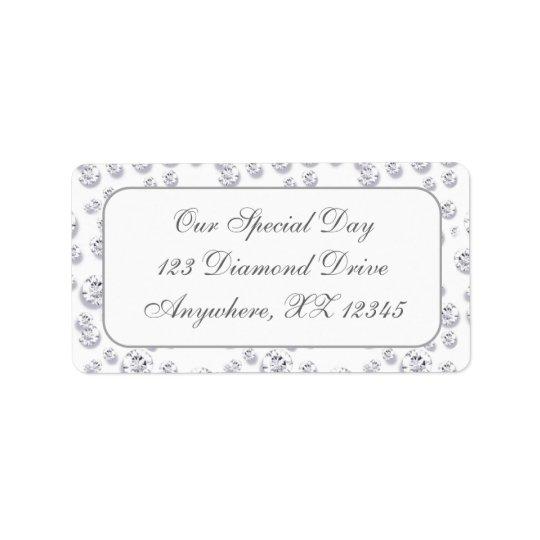 Diamonds Address Label