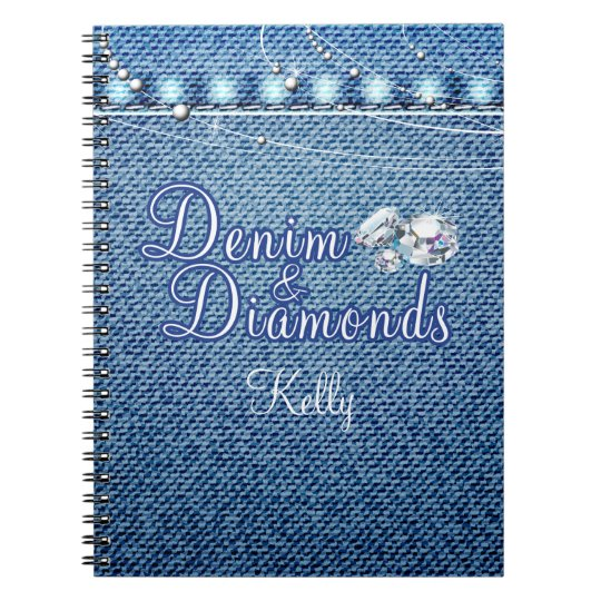 Diamonds and Denim Party Guest Book