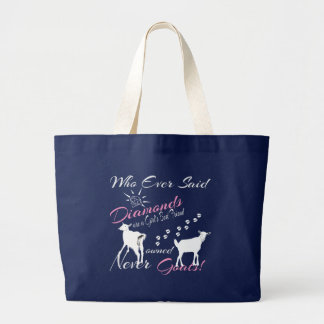 Diamonds and Goats Large Tote Bag