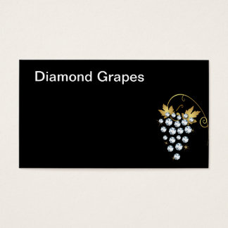 Diamonds and Grapes Logo Business Card