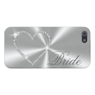 DIAMONDS AND SILVER BRIDE iPHONE CASE iPhone 5/5S Covers