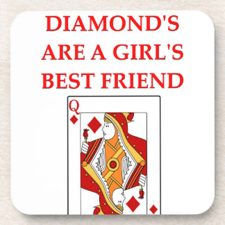 diamonds are a girl s best friend drink coaster