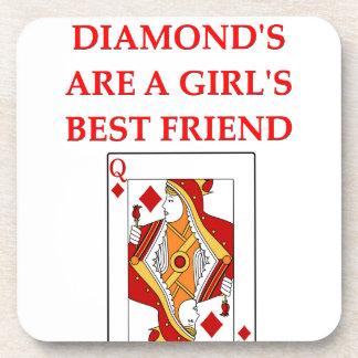 diamonds are a girl s best friend drink coaster