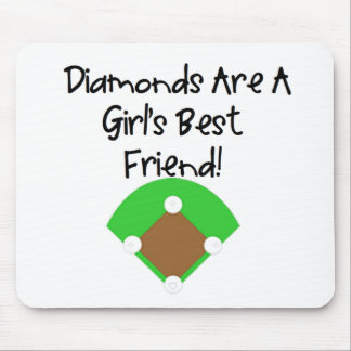 Diamonds are a Girl s Best Friend Mouse Pads