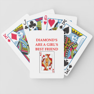 diamonds are a girl s best friend bicycle poker deck